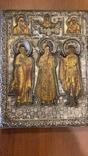 Икона святых: Святой Матфей, Святой Пётр, Святой Георгий, 1753 год, Москва, фото №3