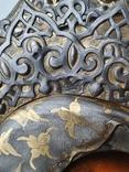 Богородица 84 пр. Ковка, чернь, позолота. Аналой., фото №4