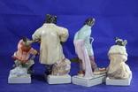 Фарфоровые статуэтки Волк Заяц Медведь Пес. На злобу дня 4 фигурки в одном лоте, фото №5