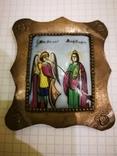 Икона миниатюрная, емаль, за реставрации, фото №2