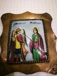 Икона миниатюрная, емаль, за реставрации, фото №12