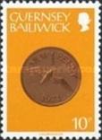 Гернси 1980 монеты 10Р, фото №2