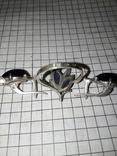 Красивый набор : кольцо+серги ,с позолотой 585 пр, фото №4