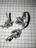 Красивый набор : кольцо+серги ,с позолотой 585 пр, фото №5