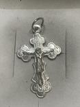 Крестик Серебро, фото №2