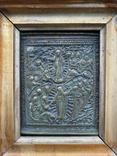 """Икона """"Воскресение Христово"""" в киоте, фото №4"""
