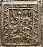 Икона «Святой Георгий Победоносец» в киоте, фото №6