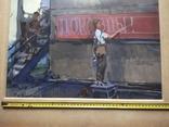 """Наглядная агитация"" б/акв. 40х52. 1957 г. Гр. Крижевский, фото №6"