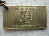 Брелок у вигляді унційного банківського золота  3, фото №3