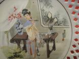 Настенная тарелка - Художница - Япония ., фото №3