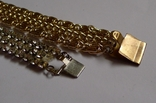 Винтажный браслет с камнями, металлический браслет и два пластиковых под перламутр., фото №10
