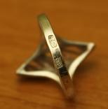 Кольцо СССР серебро 925 арт деко, фото №3