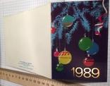 """Календарик, открытка """"С Новым годом!"""", 1989, фото №5"""