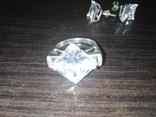 Набор кольцо и серьги, фото №9