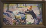 """В.Кнышевский""""Материнство"""",х.м.28х51см,1983г, фото №2"""