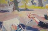 """В.Кнышевский""""Материнство"""",х.м.28х51см,1983г, фото №7"""