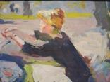 """В.Кнышевский""""Материнство"""",х.м.28х51см,1983г, фото №10"""
