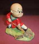 Фигурка - миниатюра *Учёный самурай* сувенир из Японии., фото №2