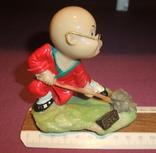Фигурка - миниатюра *Учёный самурай* сувенир из Японии., фото №9