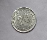 20 пфеннигов 1874 (F), Германия, серебро, фото №3