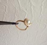 Серьги / кольцо с жемчугом, 585*. 9,55 гр., фото №12