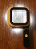 Лупа настольная TH-8016 Увеличение 10х/15х/20х крат со шкалой и подсветкой, фото №6