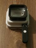 Лупа настольная TH-8016 Увеличение 10х/15х/20х крат со шкалой и подсветкой, фото №8