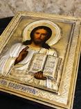Икона Господь Вседержитель с эмалью., фото №3