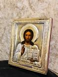Икона Господь Вседержитель с эмалью., фото №2
