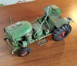 Колекційний старий трактор., фото №3