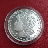 1 унция серебряный раунд Highland Mint Morgan, фото №2
