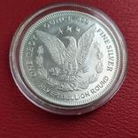 1 унция серебряный раунд Highland Mint Morgan, фото №3