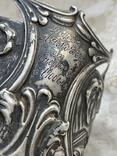 Пара подстаканников Слоны серебро 875 молотобоец СССР винтаж 50-х годов, фото №7