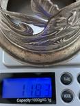 Пара подстаканников Слоны серебро 875 молотобоец СССР винтаж 50-х годов, фото №11