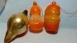 Три ёлочные игрушки одним лотом. Пупс, Котёнок в корзине и Толстая сосулька, фото №3