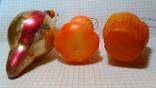 Три ёлочные игрушки одним лотом. Пупс, Котёнок в корзине и Толстая сосулька, фото №4