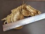 Пепельница Голова Лошади, старинная. Л968, фото №11