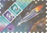 """ХМК СССР 1989 г. """"Посвященный филателистической выставке """"Космонавтика"""", фото №2"""