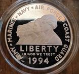 США 1 доллар 1994 Мемориал женщинам на военной службе. Пруф, фото №2