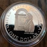 США 1 доллар 1992 г. Серебро. 200-летие Белого дома. Пруф, фото №2