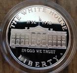США 1 доллар 1992 г. Серебро. 200-летие Белого дома. Пруф, фото №3