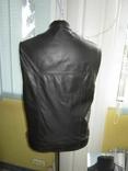 Оригинальный мужской кожаный жилет ECHT LEDER. Германия. Лот 878, фото №3