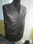 Оригинальный мужской кожаный жилет ECHT LEDER. Германия. Лот 878, фото №5