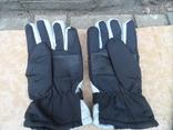 Перчатки зимние черно-серебристые, фото №4