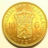 Нидерланды 10 гульденов 1927 г., фото №3