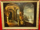 """""""В монастыре"""",19 век,х/м, фото №2"""