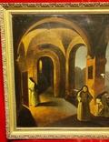 """""""В монастыре"""",19 век,х/м, фото №3"""