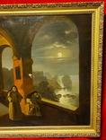 """""""В монастыре"""",19 век,х/м, фото №4"""