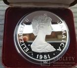 Ямайка 25 долларов 1981 г. Серебро. Вес: 136.00 г. Коробка., фото №4