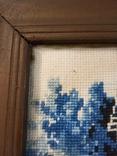 Картина - вышивка. Домик зимой., фото №5